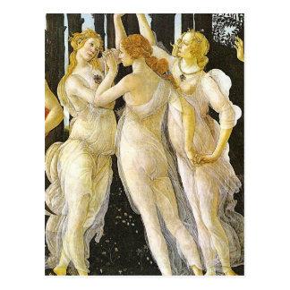 Carte Postale Les trois grâces par Sandro Botticelli