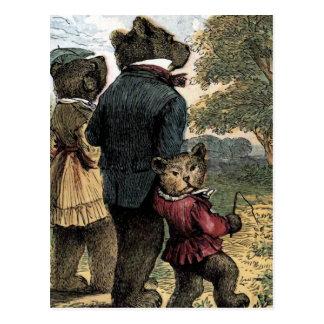 Carte Postale Les trois ours prennent une illustration de cru de