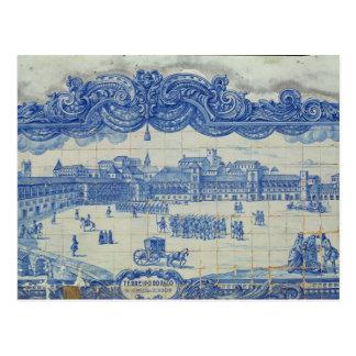Carte Postale Les tuiles d'Azulejos dépeignant le Praca font