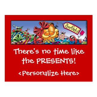 Carte Postale Les vacances de Garfield Logobox présentent des