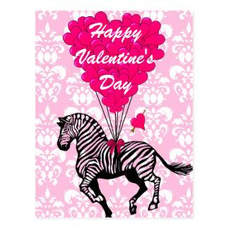 Carte Postale Les Valentines des enfants de zèbre d'amusement