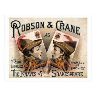 Carte Postale Les valets de Shakespeare