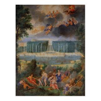 Carte Postale Les vergers de Versailles. Vue de piscine de