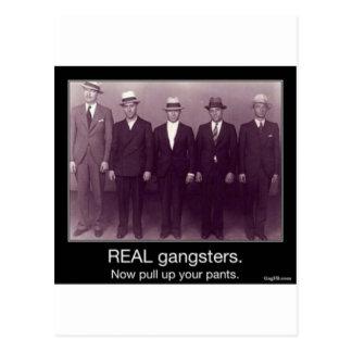 Carte Postale les vrais gangstas tirent vers le haut maintenant