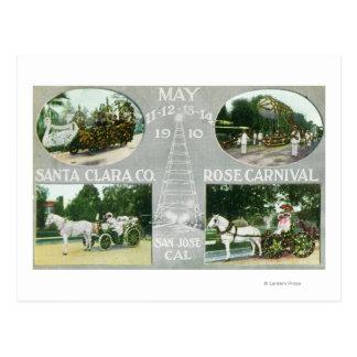 Carte Postale Les vues pittoresques de Santa Clara Co se sont