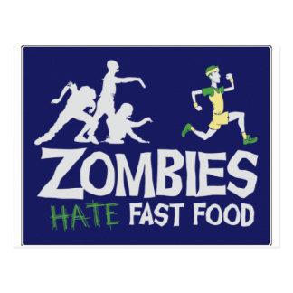Carte Postale Les zombis DÉTESTENT les aliments de préparation