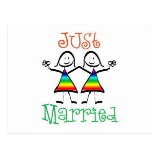 Carte Postale Lesbienne juste mariée