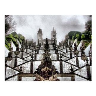 Carte Postale L'escalier baroque de Bom Jésus à Braga
