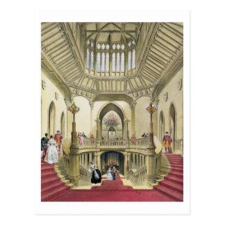 Carte Postale L'escalier grand, château de Windsor, 'd'un Histo