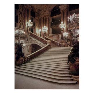 Carte Postale L'escalier grand du l'Opéra-Garnier
