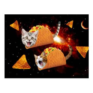 Carte Postale L'espace de chats de taco