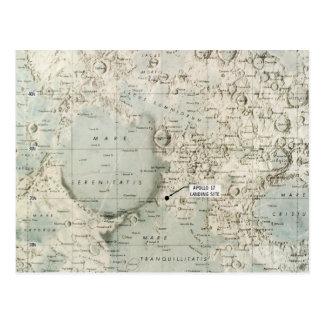 CARTE POSTALE L'ESPACE : LUNE MAP, 1972
