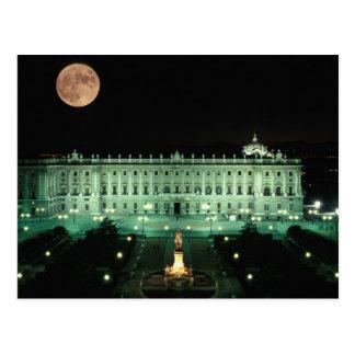 Carte Postale L'Espagne, le Madrid, le Royal Palace et la plaza