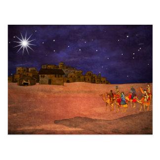 Carte Postale L'étoile au-dessus de Bethlehem