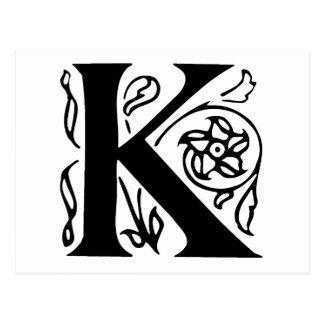 Carte Postale Lettre de fantaisie K