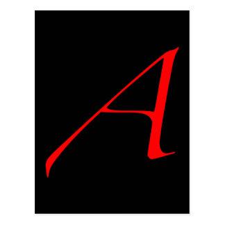 Carte Postale Lettre d'écarlate A (pour l'athée)