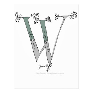 Carte Postale Lettre magique W de conception élégante de