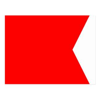 Carte Postale Lettre nautique B (bravo) de signal de drapeau