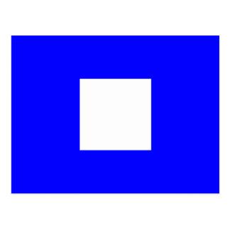 Carte Postale Lettre nautique P de signal de drapeau d'alphabet