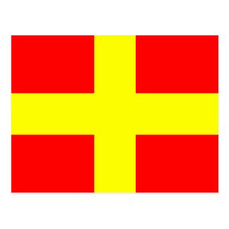Carte Postale Lettre nautique R de signal de drapeau d'alphabet
