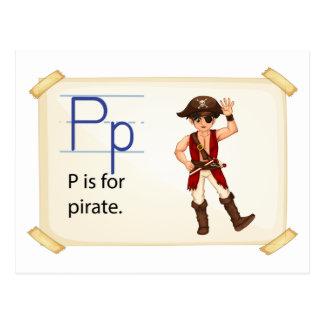 Carte Postale Lettre P