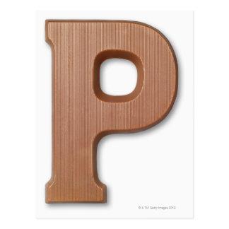Carte Postale Lettre p de chocolat