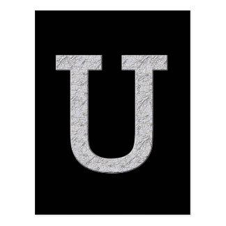 Carte Postale Lettre U de monogramme