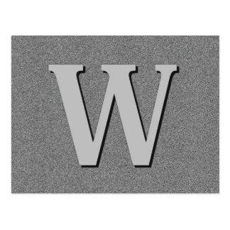 Carte Postale Lettre W de monogramme