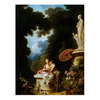Carte Postale Lettres d'amour par Jean Honore Fragonard
