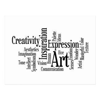 Carte Postale L'étudiant en art créatif de processus artistique