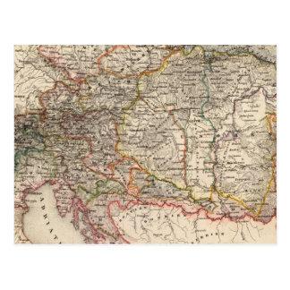 Carte Postale L'Europe centrale