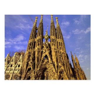 Carte Postale L'Europe, Espagne, Barcelone, Sagrada Familia