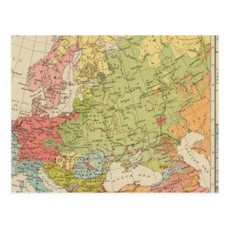 Carte Postale L'Europe ethnographique