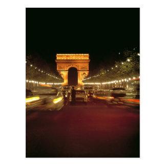 Carte Postale L'Europe, France, Paris. Précipitations du trafic