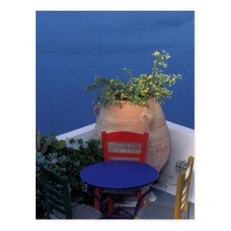 Carte Postale L'Europe, Grèce, Santorini. Terrasse avec la vue
