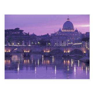 Carte Postale L'Europe, Italie, Rome. St Peter et Ponte Sant