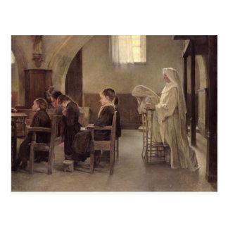 Carte Postale L'Ève de la première communion, avant 1890