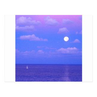 Carte Postale Lever de la lune enchantée par mer Cancun
