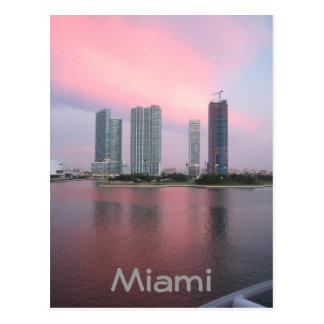 Carte Postale Lever de soleil à Miami