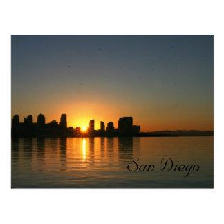 Carte Postale Lever de soleil au-dessus de San Diego
