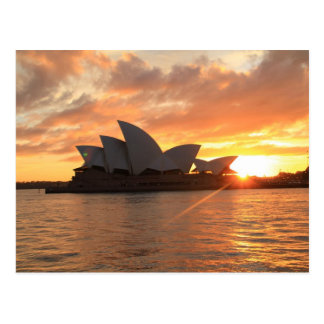 Carte Postale Lever de soleil au théatre de l'opéra de Sydney