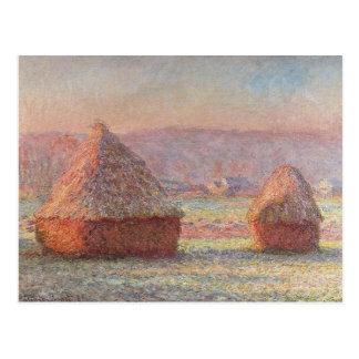 Carte Postale Lever de soleil blanc de Frost de Claude Monet