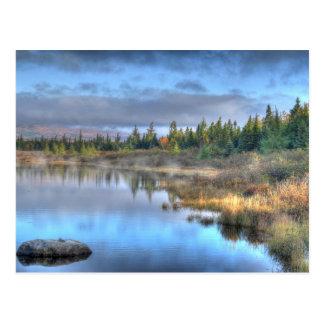 Carte Postale Lever de soleil d'automne au lac Maine Moosehead