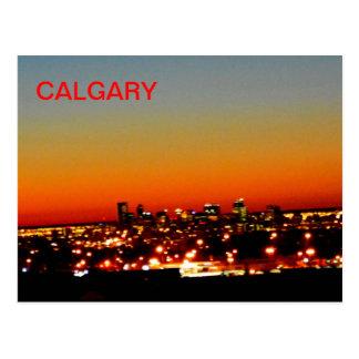 Carte Postale Lever de soleil de Calgary