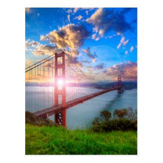 Carte Postale Lever de soleil de Golden Gate
