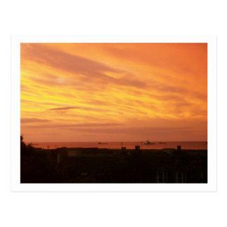 Carte Postale Lever de soleil de littoral