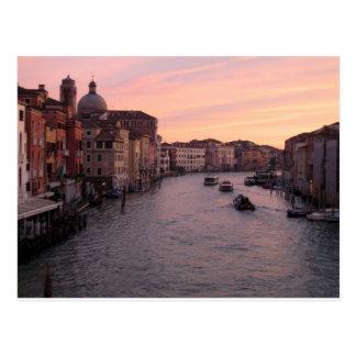 Carte Postale Lever de soleil de Venise