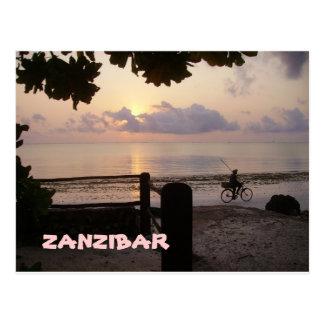 CARTE POSTALE LEVER DE SOLEIL DE ZANZIBAR