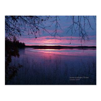 Carte Postale Lever de soleil en Laponie