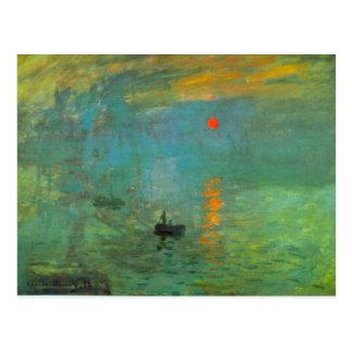 Carte Postale Lever de soleil par Claude Monet